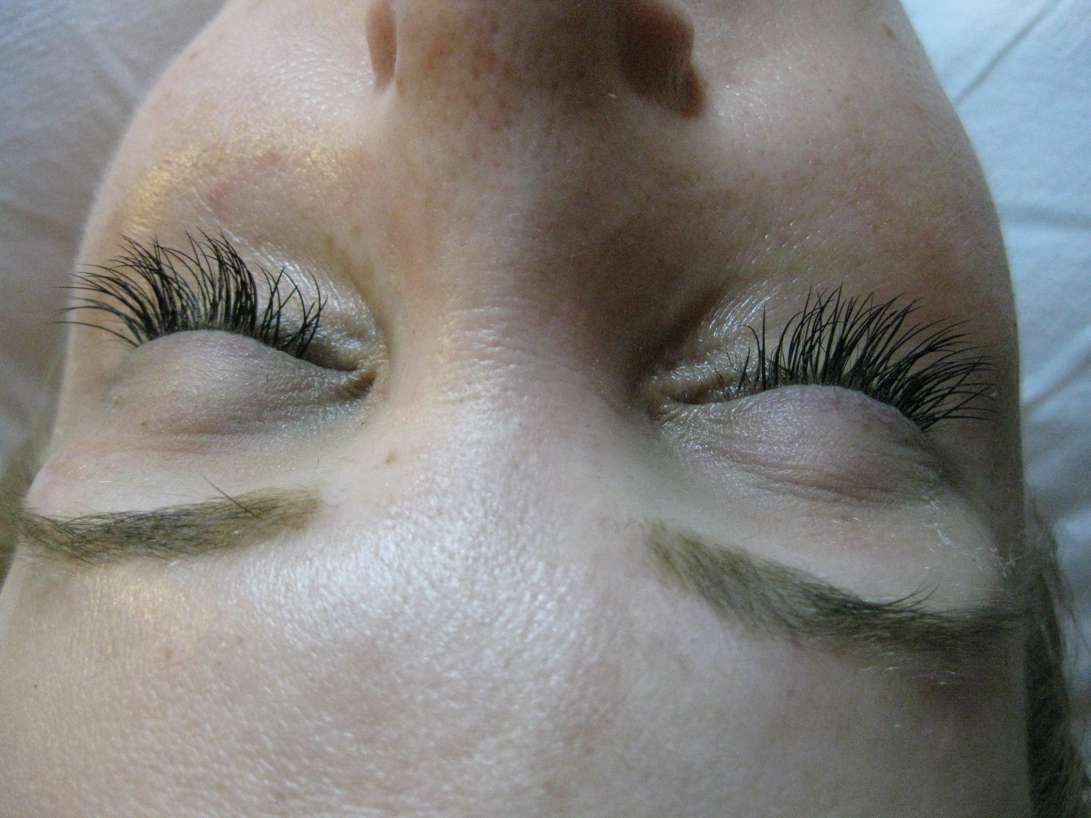 1227a36d1a1 CORRECTED-EYELASH EXTENSIONS-This women came to Blink Lash bar after she  had bad eyelash extensions applied at another salon.